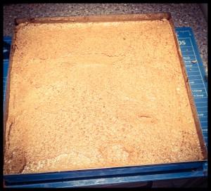 Sixth layer, final buttercream layer