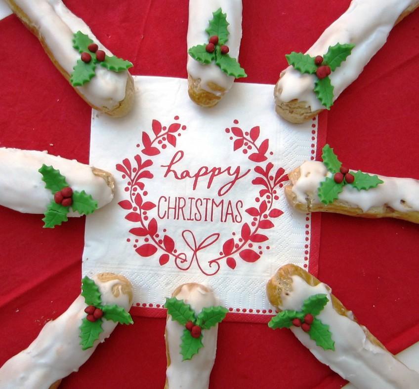 Christmas Eclairs