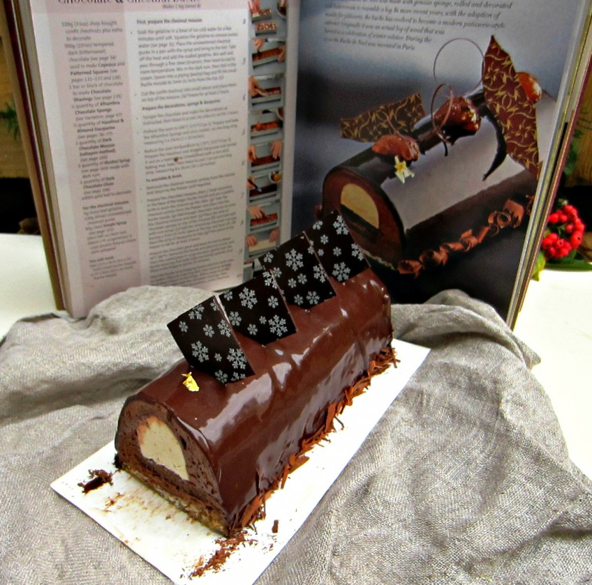 Chocolate & Chestnut Buche de Noel