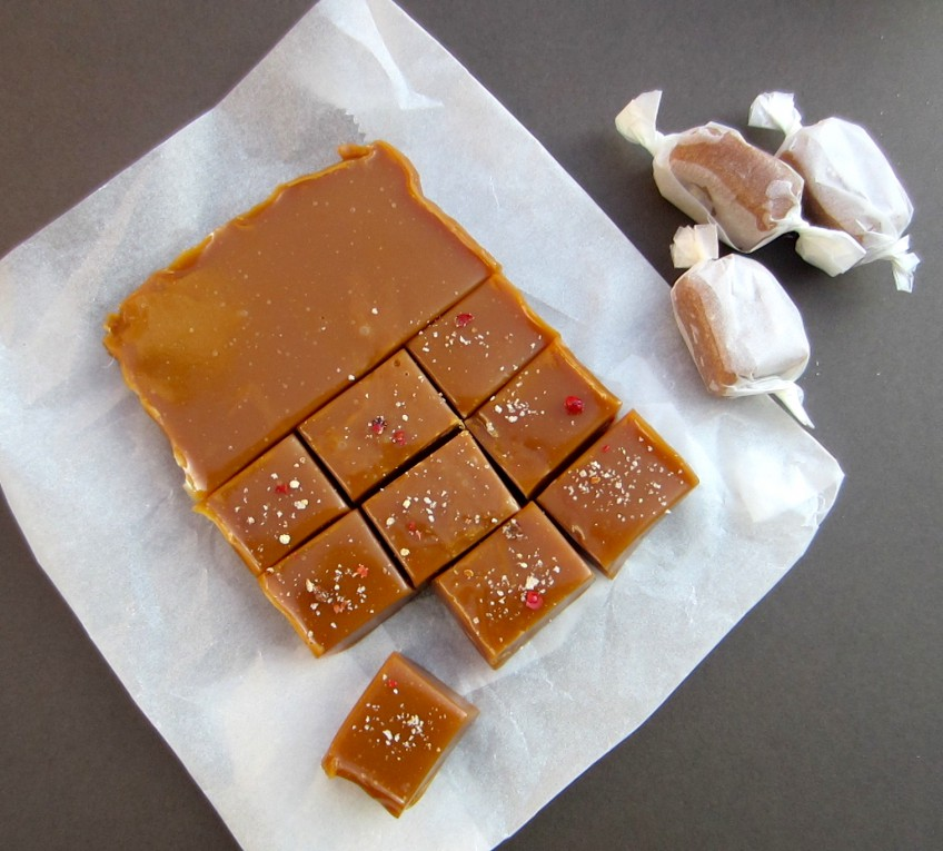 Sea salt and pepper caramels