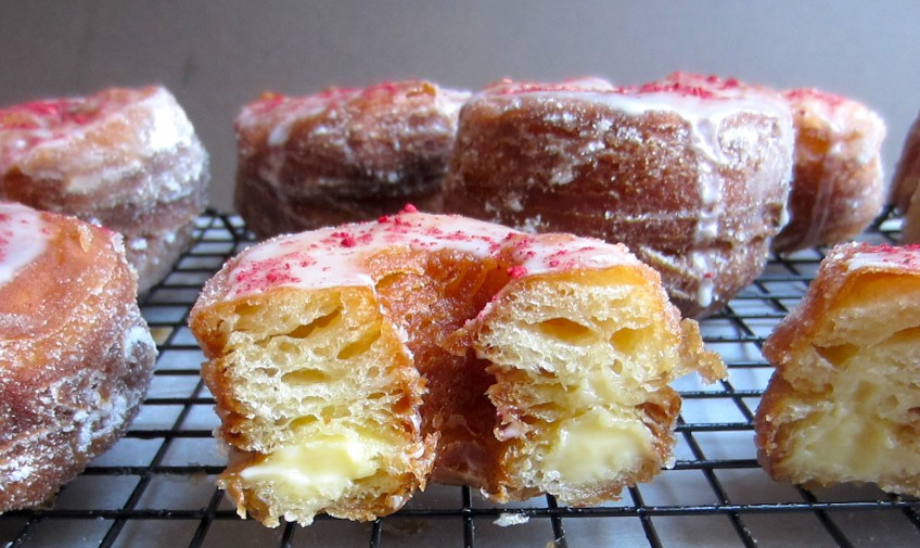 Raspberry and Rose Cronuts