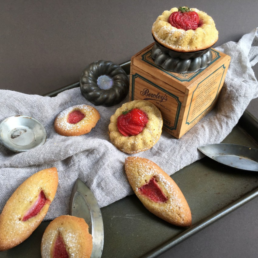 Strawberry & Pistachio Financiers