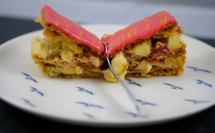 Patisserie Makes Perfect | Rhubarb & Custard Mille-Feuille