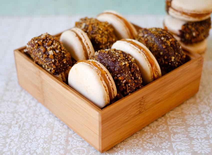 Salted Caramel Praline Macarons | Patisserie Makes Perfect