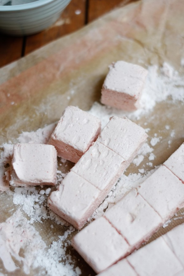 Strawberry & White Chocolate Marshmallows