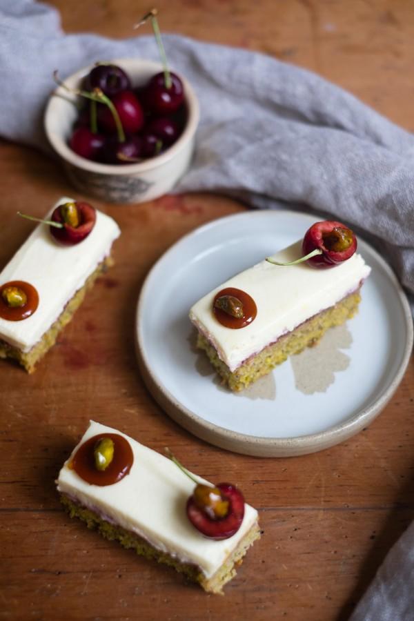 Pistachio & Cherry Cakes | Patisserie Makes Perfect