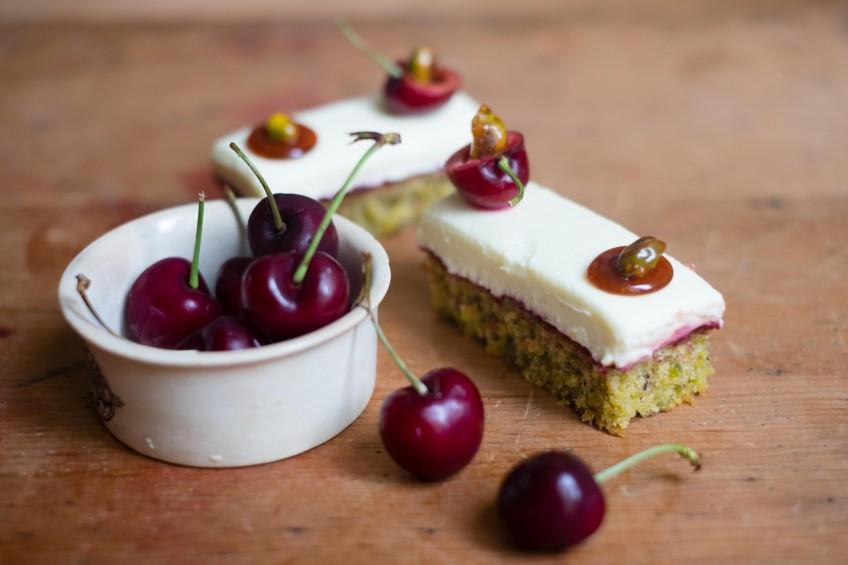 Pistachio & Cherry Cakes   Patisserie Makes Perfect