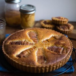 Quince Frangipane Tart with Ginger Curd