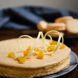 Mango & Cardamom Macaron Cake