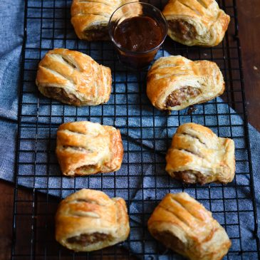 Pork & Garlic Sausage Rolls