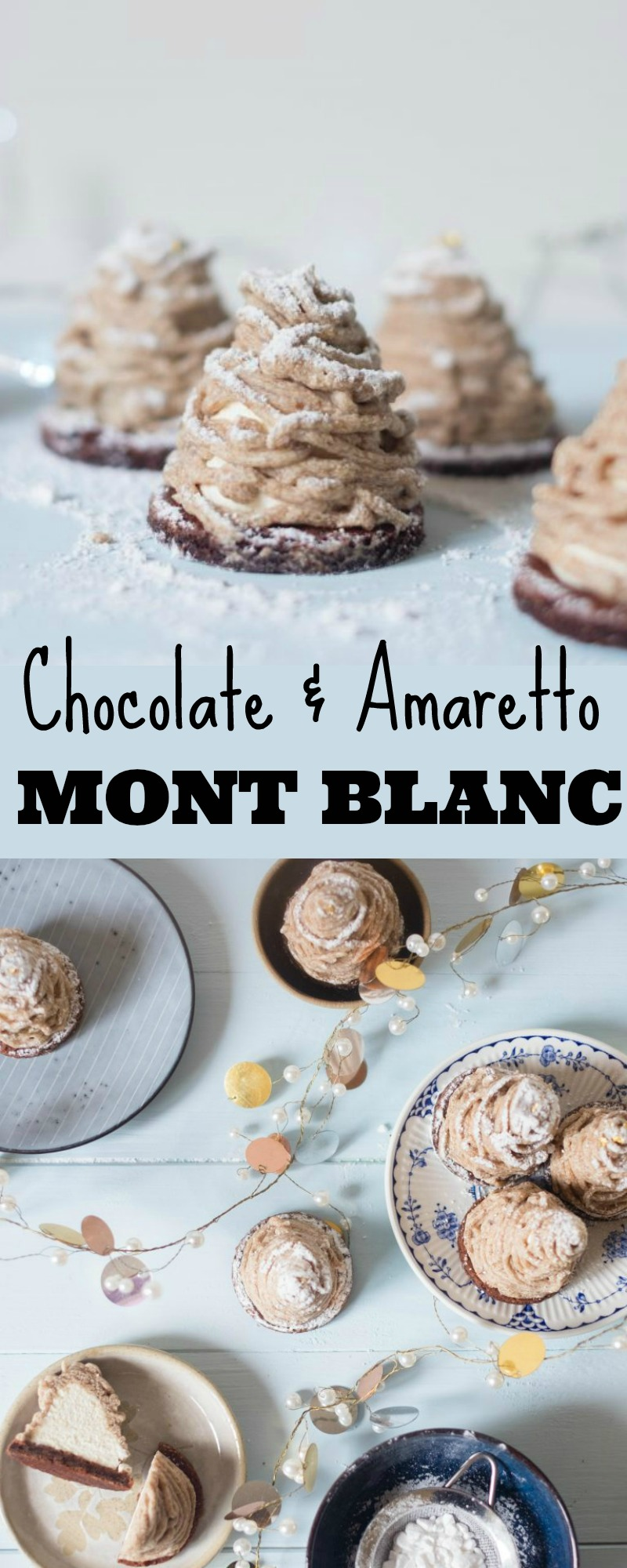 Chocolate and amaretto mont blanc patisserie makes perfect for Mont blanc recipe