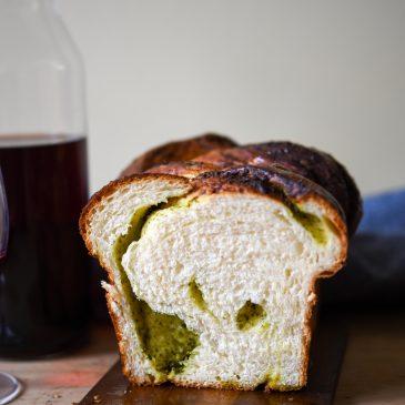 Wild Garlic Pesto Milk Bread