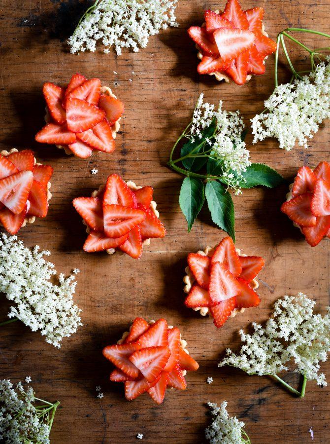 Strawberry & Elderflower Tarts | Patisserie Makes Perfect