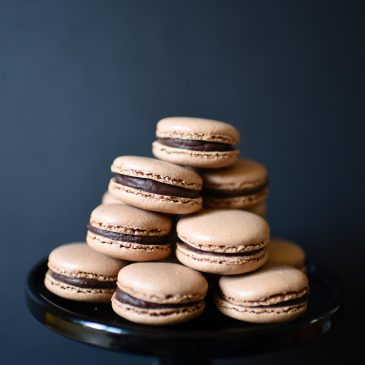 Chocolate & Salted Caramel Macarons