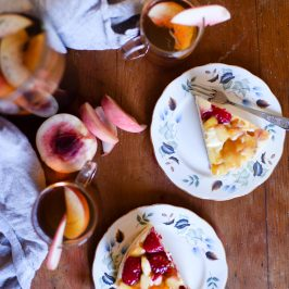 Raspberry & Peach White Chocolate Dacquoise + Adagio Teas Giveaway