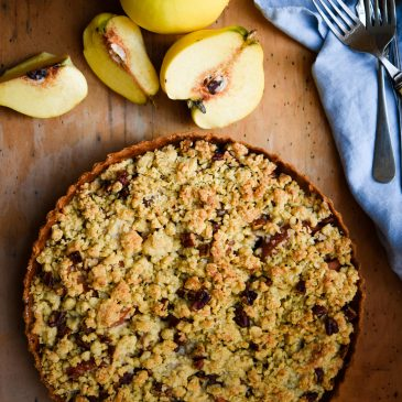 Quince Crumble Tart