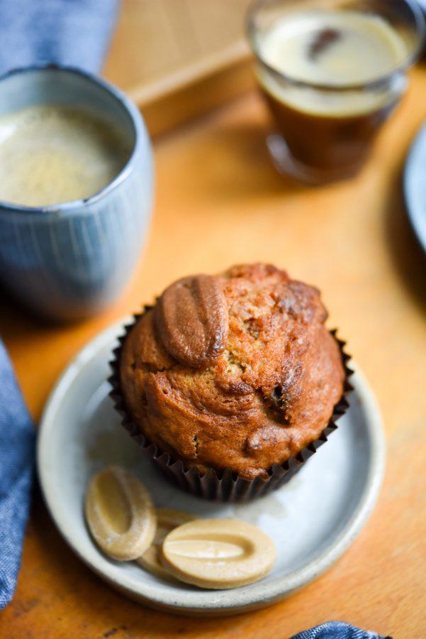 Banana, Pecan & Valrhona Dulcey Muffins | Patisserie Makes Perfect