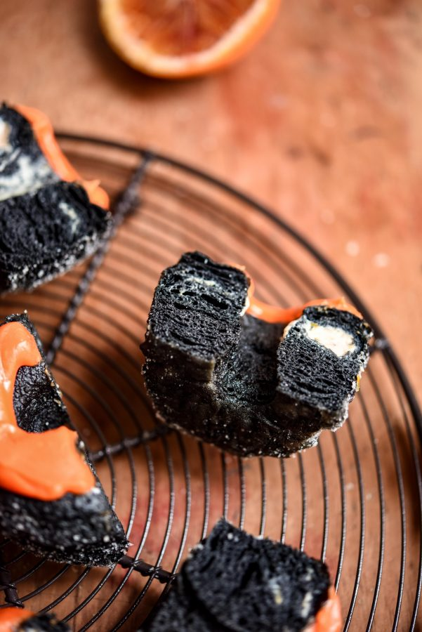 Charcoal & Blood Orange Cronuts | Patisserie Makes Perfect