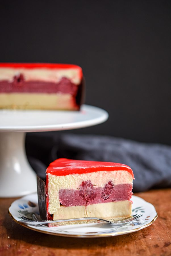 Honey, Raspberry & White Chocolate Entremet | Patisserie Makes Perfect