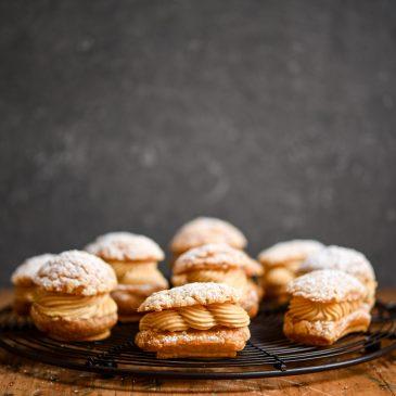 Hazelnut Praline Choux Buns
